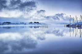 蓝色,湖,博登湖
