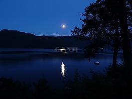 月亮,月亮照耀,卡尼姆湖