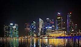新加坡,商業,夜景