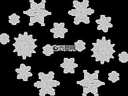 雪花,灰色,秋天