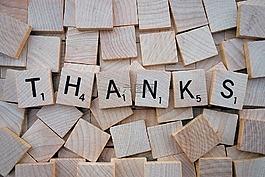 謝謝你,字,字母