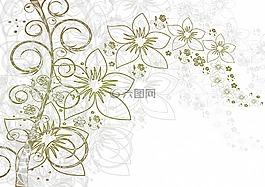 鲜花,背景,叶子