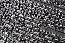 字體,鉛套,活版印刷