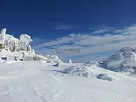 冬天,冬季魔術,藍色的天空