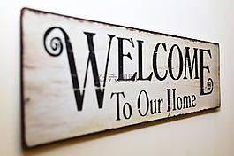 歡迎來到我們的家,歡迎,平板電腦