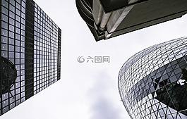 城市,天空,建筑物