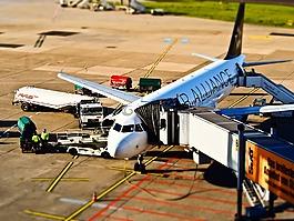 机场,飞机,离境