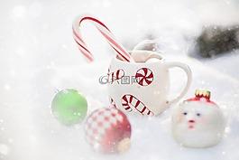 热巧克力,雪,圣诞节