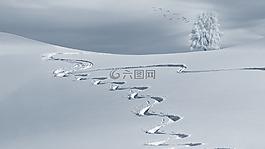 寒冬,山,雪