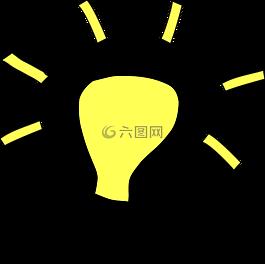 思想,光,灯泡