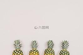菠萝,水果,白色背景