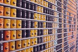 罐头的食品,罐,超市