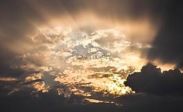 天空,云,光線