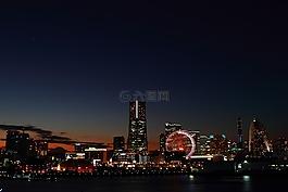 日本,橫濱,夜景