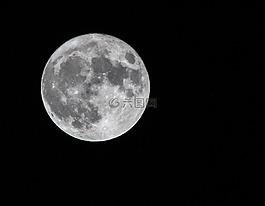 月亮,月球,滿月