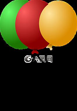 氣球,慶典,綠色