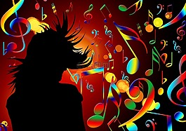 舞蹈,音乐,高音谱号