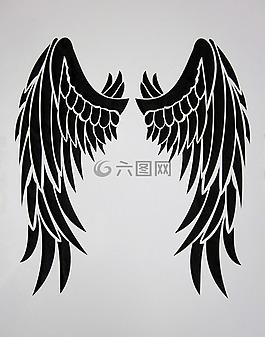 翼,黑色,羽毛