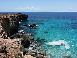 马洛卡,卡拉,蓝色的水