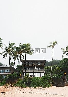 海邊的房子,熱帶,海邊