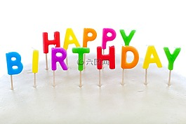 生日快乐,蛋糕,蜡烛