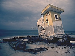 衰變,建設,海邊