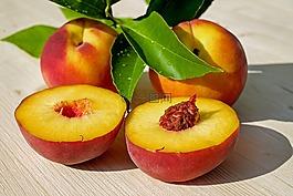 桃,水果,红色