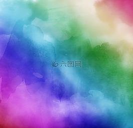 水彩,彩虹的顏色,丁香