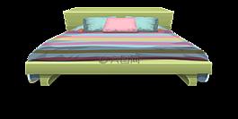 床,枕頭,棉被
