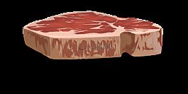 牛排,肉,原
