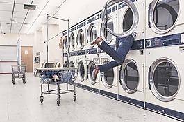 洗衣,清洗機,家庭主婦