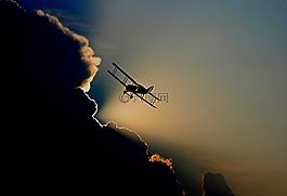 飞机,双层,螺旋桨式飞机