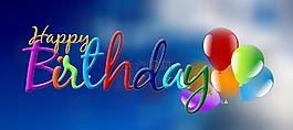 生日,天空,气球