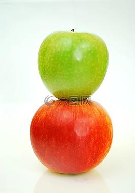 蘋果,紅色,青蘋果