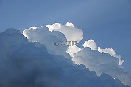 天空,云,阳光的光线