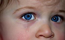 孩子的眼睛,眼睛,藍色的眼睛