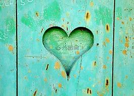 心,木材,愛