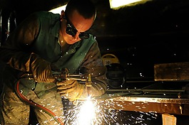 男子,焊接,工业