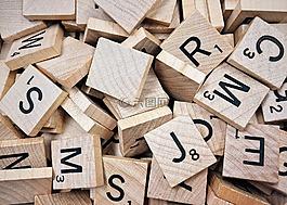 拼字游戏,游戏,字母