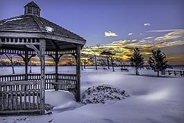 雪,冬天,冷