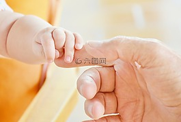 嬰兒,手,孩子