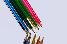 彩色的铅笔,多彩色,交叉