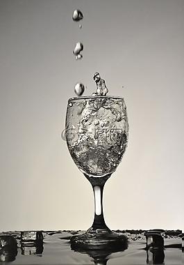 水滴,抓拍水滴,杯子