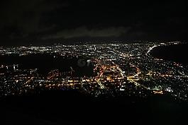 夜景,城市夜景,海灣