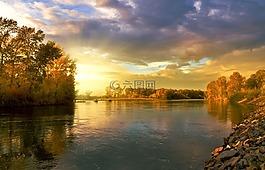 秋,景觀,自然