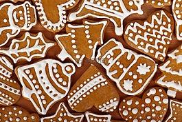 饼干,棕色,圣诞节