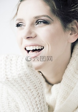 美,微笑,快乐