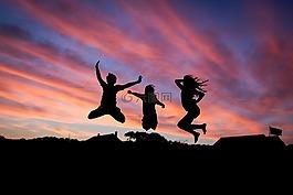 人,跳跃,幸福