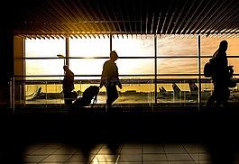 機場,男子,旅行