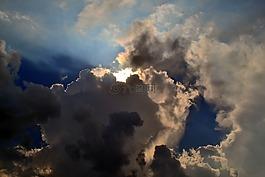 天空,光,多云